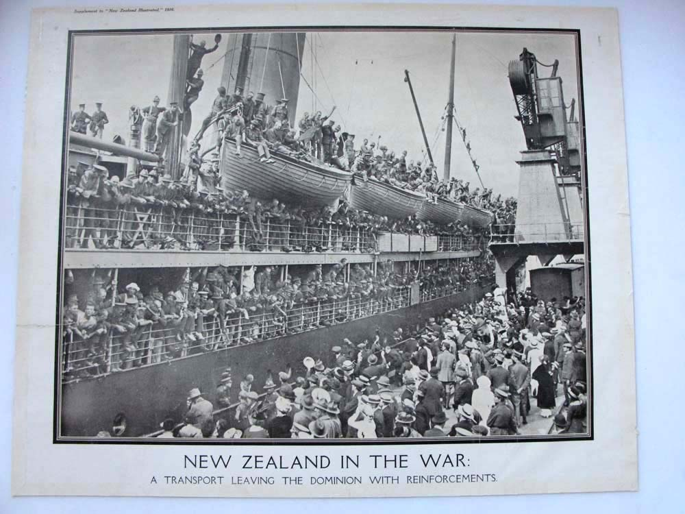 Troopships that departed New Zealand during World War One