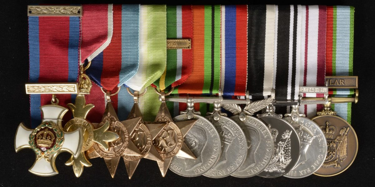 William 'Kiwi' Smith's medals.