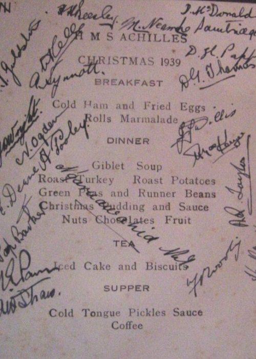 ACHILLES Christmas Menu 1939 EAE 0062