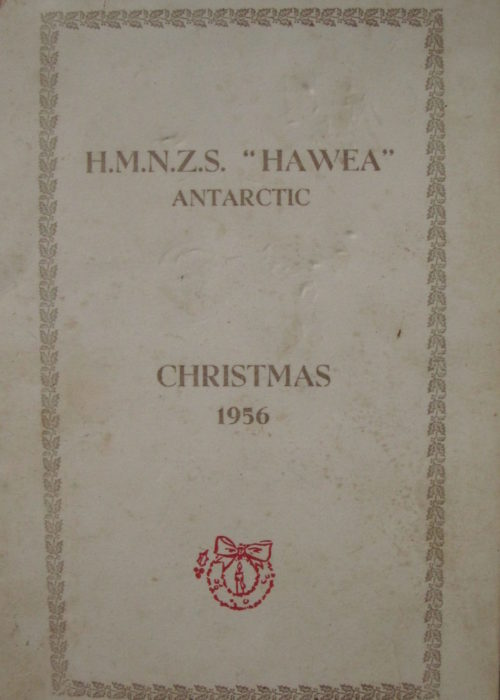 HMNZS Hawea Christmas Day Antarctic 1956 Menu EXH 0003
