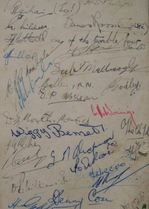 Back of Christmas Menu HMNZS Hawea 1956 EXH 0003