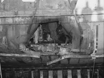 Rainbow Warrior bomb damage