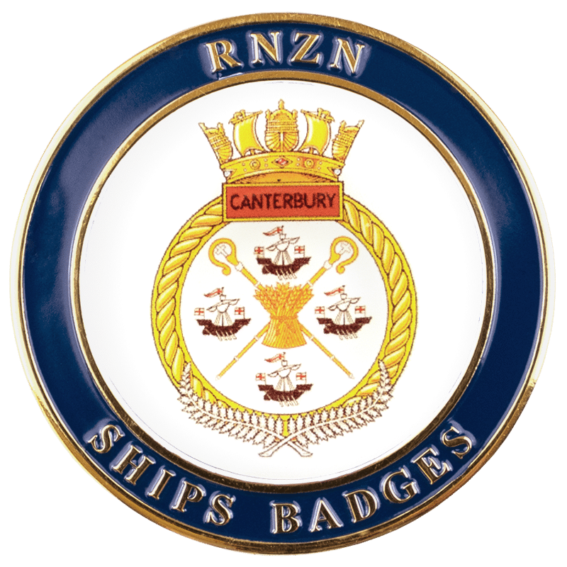 HMNZS Canterbury Challenge Coin - Front
