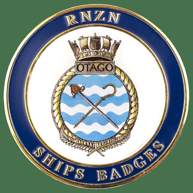 HMNZS Otago Challenge Coin - Front