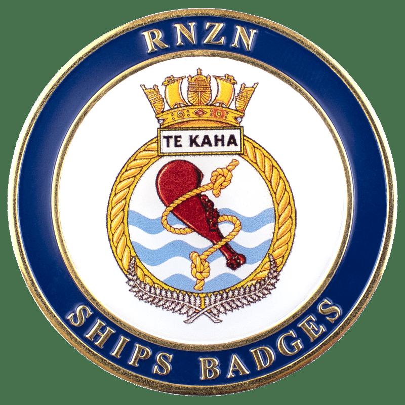 HMNZS Te Kaha Challenge Coin - Front