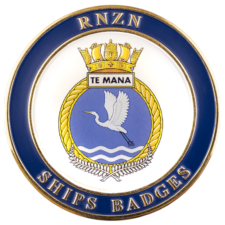 HMNZS Te Mana Challenge Coin - Front