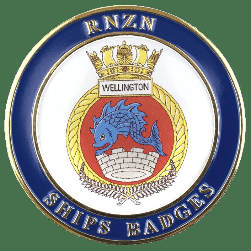 HMNZS Wellington Challenge Coin - Front