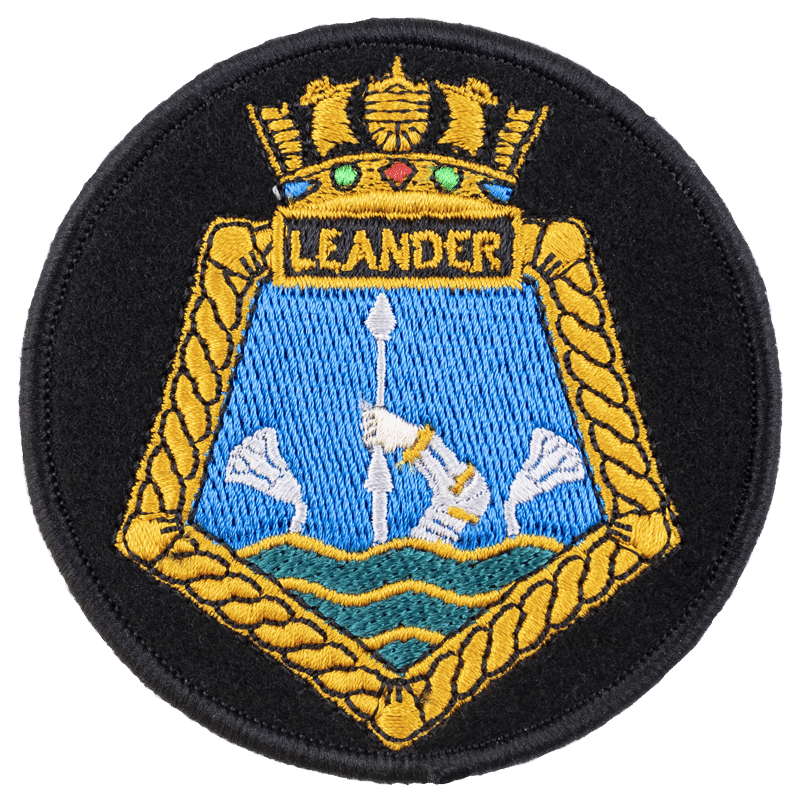 Iron on Ship Badge HMNZS Leander