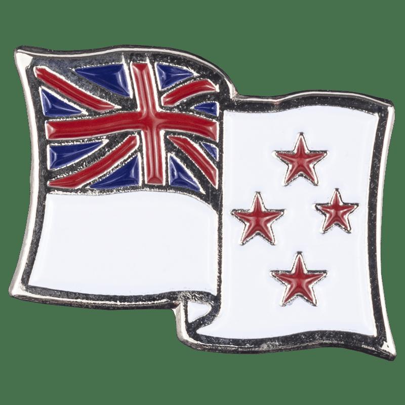 Lapel Pin - White Naval Ensign