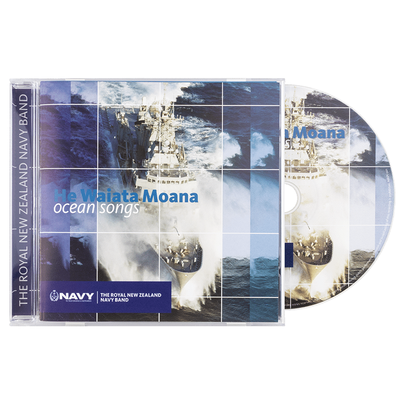 Navy Band He Waiata Moana - Front cover with CD