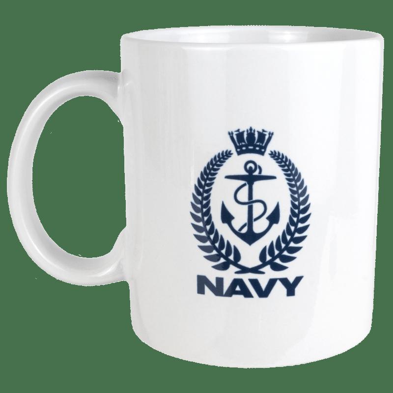 Navy Crest Mug