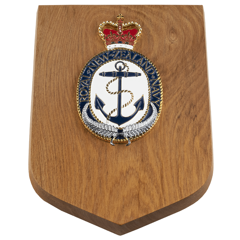 Navy Crest Wall Plaque