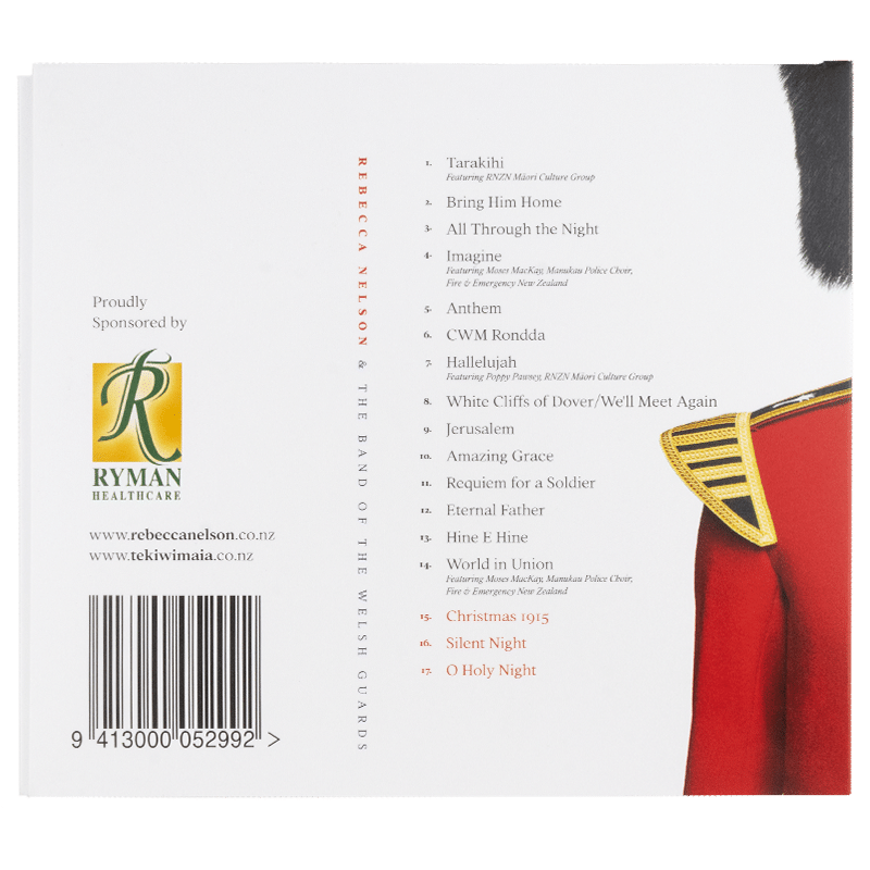 Reverence by Rebecca Nelson and the Band of the Welsh Guards - Back cover