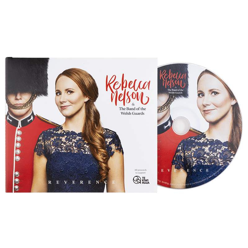 Reverence by Rebecca Nelson and the Band of the Welsh Guards - Front cover with CD