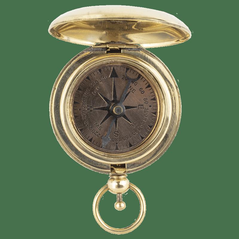 Torpedo Bay Navy Museum Compass - Open