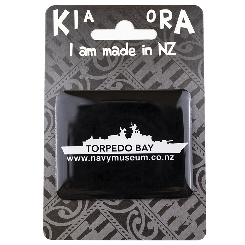Torpedo Bay Navy Museum Magnet with packaging