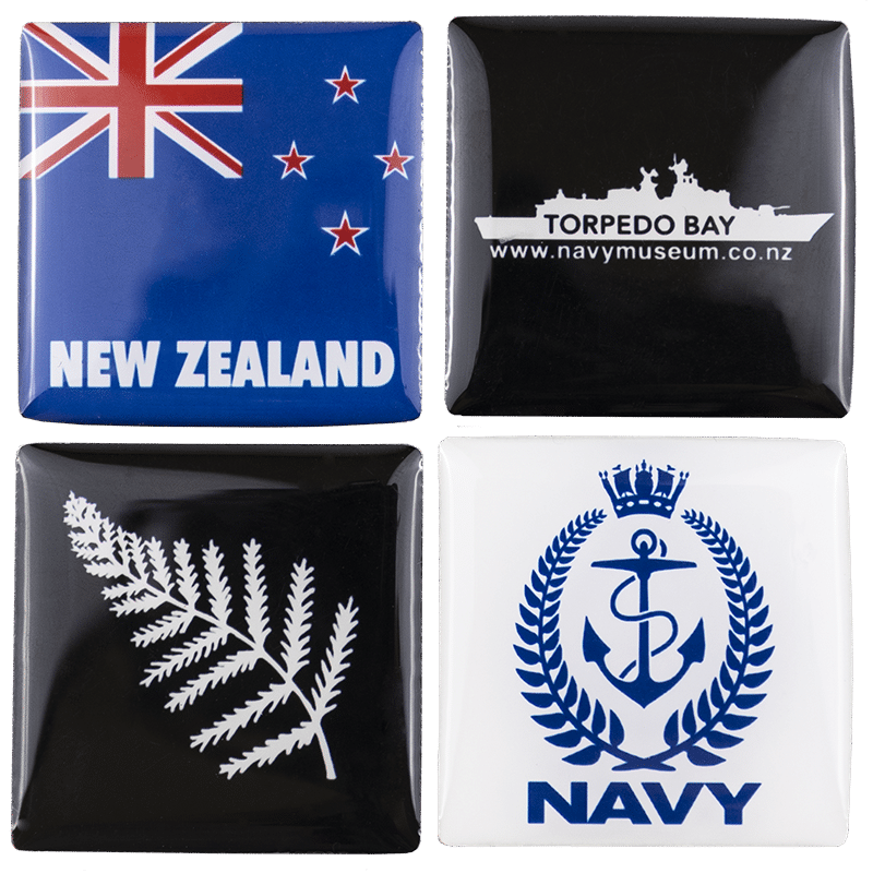Torpedo Bavy Navy Museum Set of 4 Magnets
