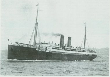 Pre-wartime SS Maheno [Source Gordon McLauchlan (ed.), The Line that Dared: A History of the Union Steamship Company 1875-1975, Auckland: Four Star Books, 1987, p. 145]