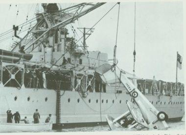 K5841 begin recovered after crashing in Wellington Harbour 24 November 1937